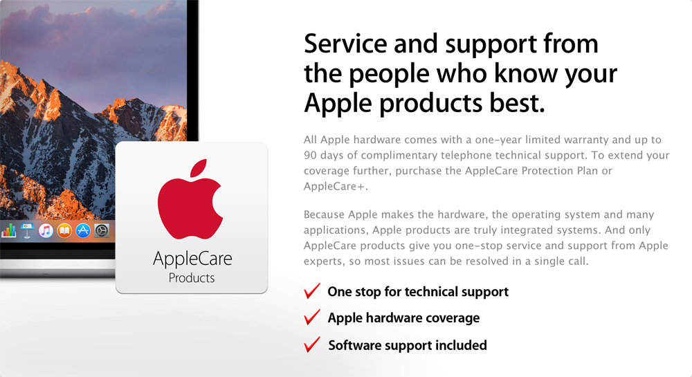 AppleCare - Service and support from the people who know your Apple products best